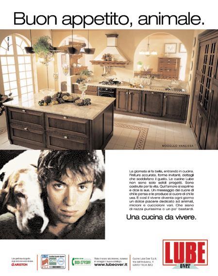 WTT Italia e Neos MDR hanno realizzato la campagna pubblicitaria per il Gruppo Industriale Lube presente anche al Salone del Mobile