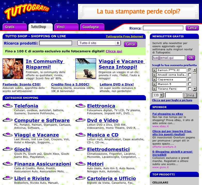 La nuova web directory creata da Tuttogratis   permette di cercare in modo semplice ed efficace prodotti e servizi in rete.