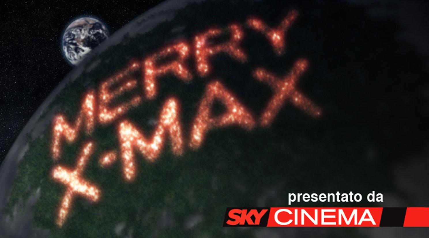 Sky manda Babbo Natale sulla luna.  Sky Cinema Max, il canale di azione del pacchetto Sky Cinema, invia i suoi   auguri di Natale affidandosi a ProximaMilano