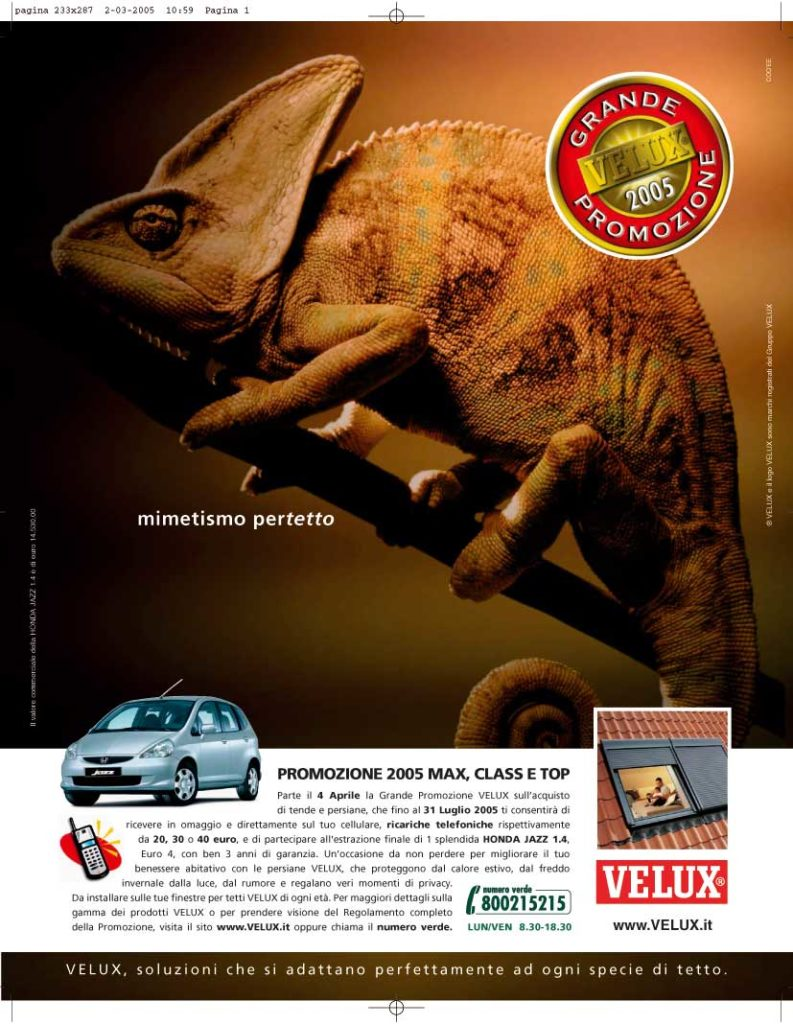 E 39 partita la grande promozione velux 2005 rivolta ai for Velux rivenditori