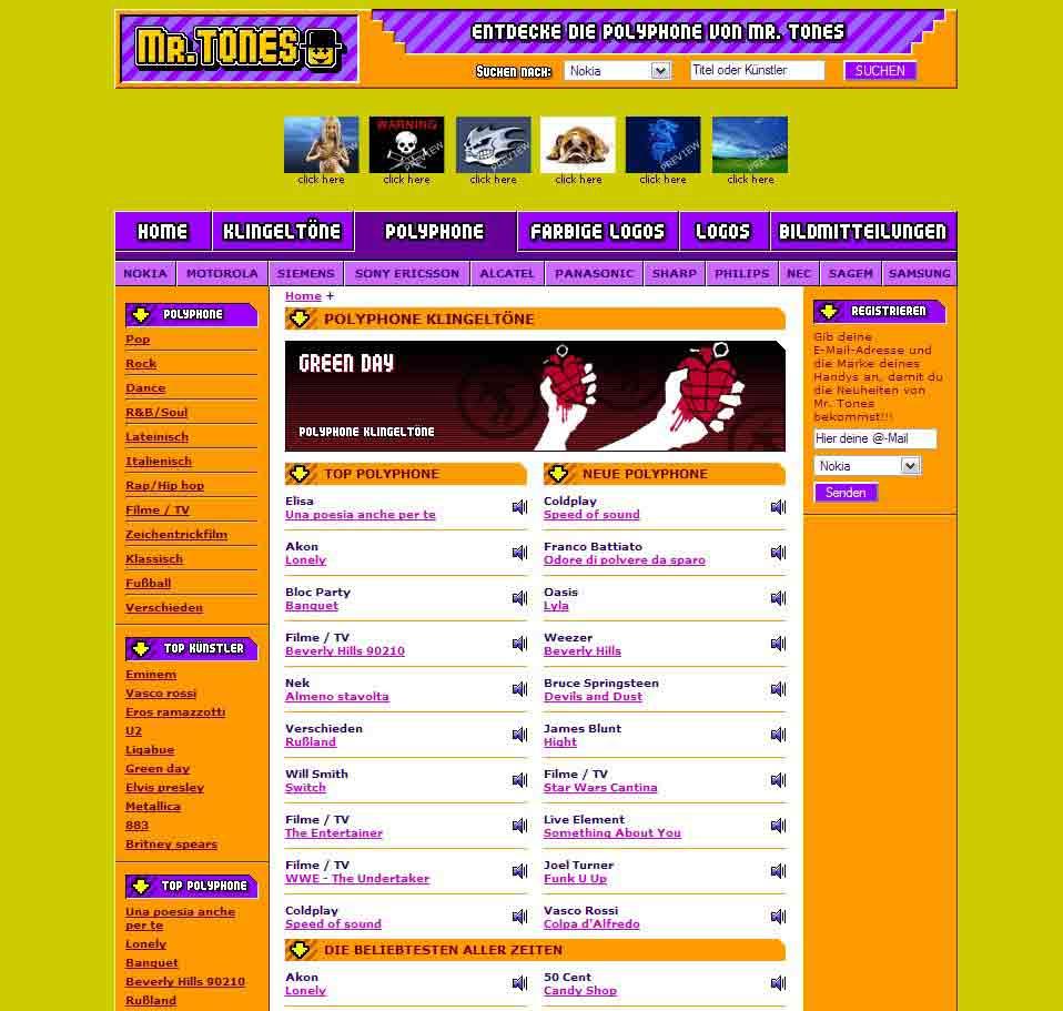 Tuttogratis Italia Spa amplia il proprio   network internazionale di siti specializzati nel mobile entertainment con la nascita di Mr.Tones in Germania.