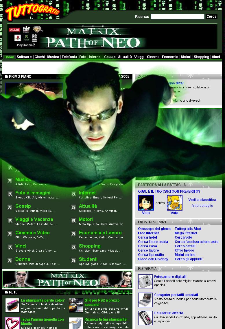 Tuttogratis Italia S.p.A lancia il nuovo gioco Matrix Path of   Neo sul portale www.tuttogratis.it