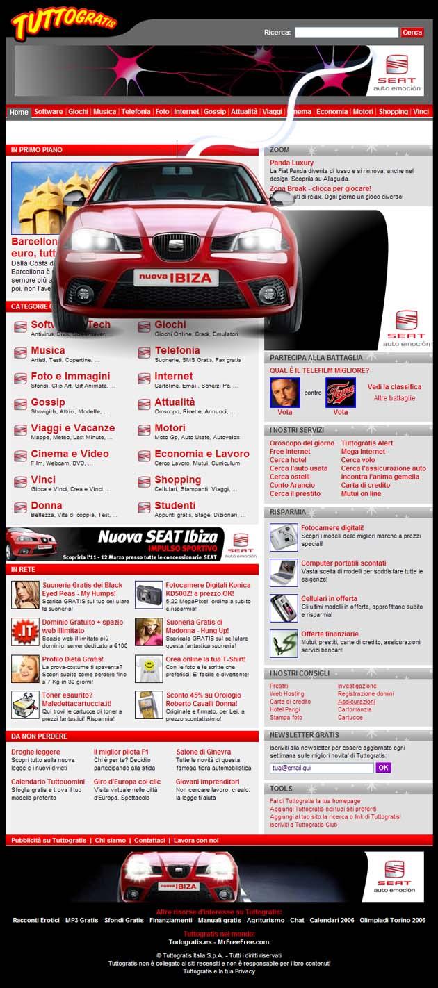 Il portale ospita la campagna Web dedicata alla nuova Ibiza con   formati di grande impatto e la personalizzazione grafica dell'homepage