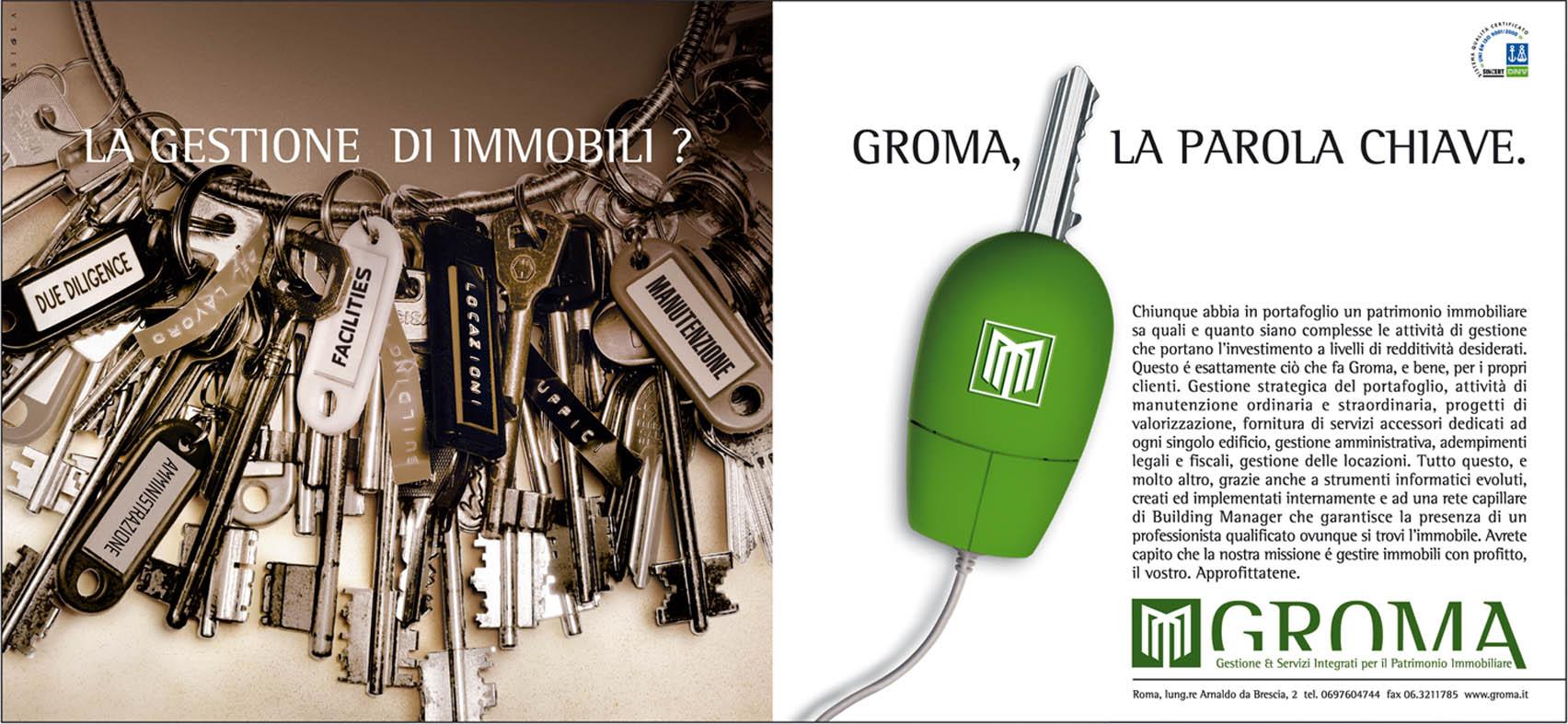 Restyling per Groma: nuovo logo e nuova campagna