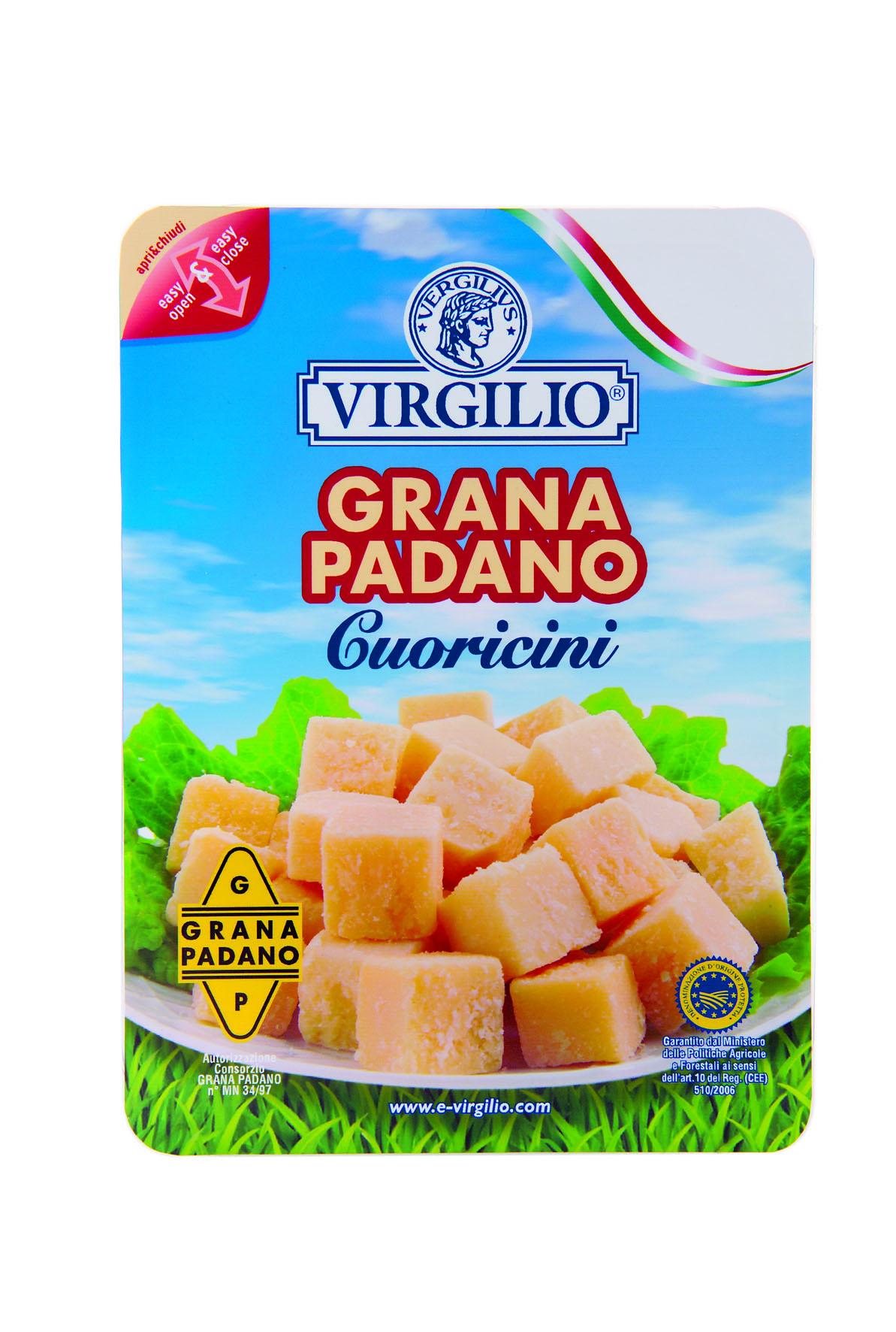 Virgilio al Cibus 2006 con tre novità per tutti i gusti: provolone, burro e grana padano in cuoricini e scaglie