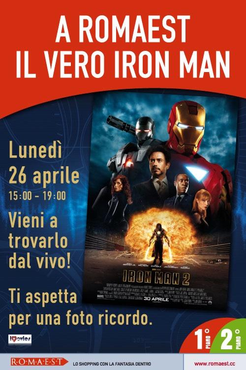 A Romaest arriva Iron Man