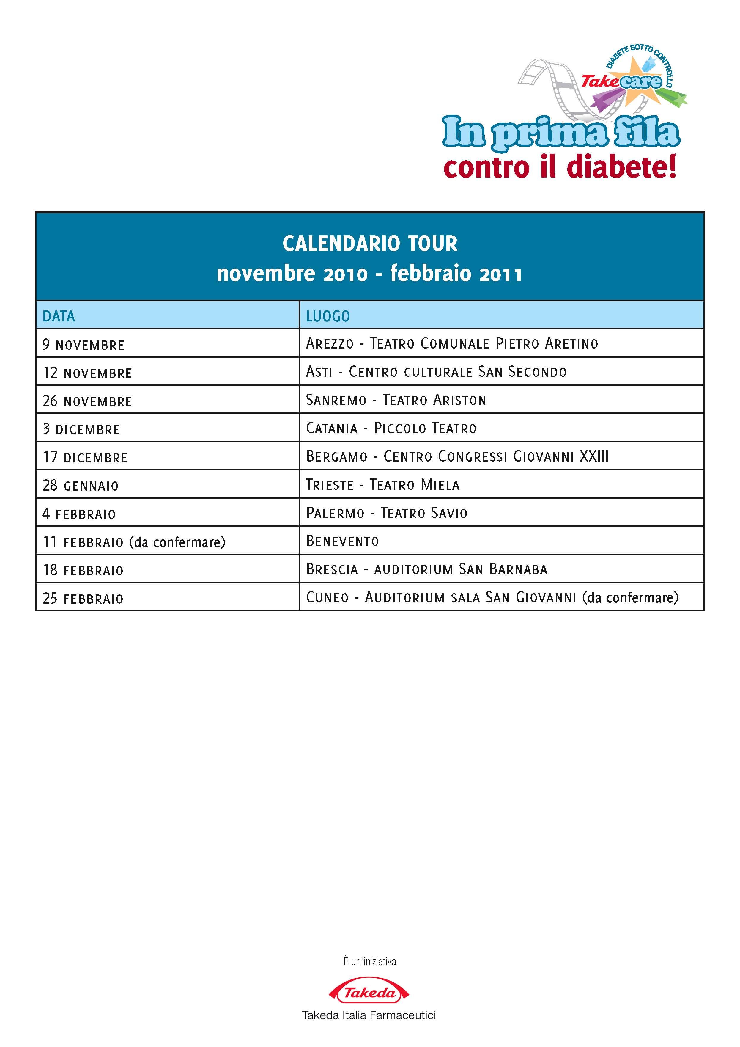 """Prosegue fino a febbraio l'iniziativa """"In prima fila contro il diabete"""""""