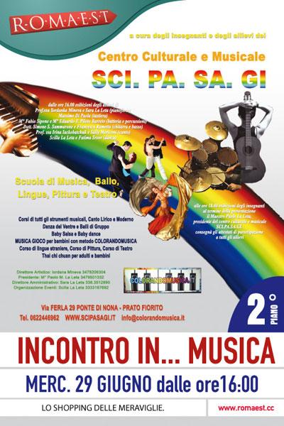 """""""Incontro… in musica"""" a Romaest con SCI.PA.SA.GI"""