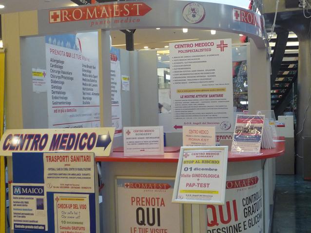 Le visite mediche si fanno al centro Romaest
