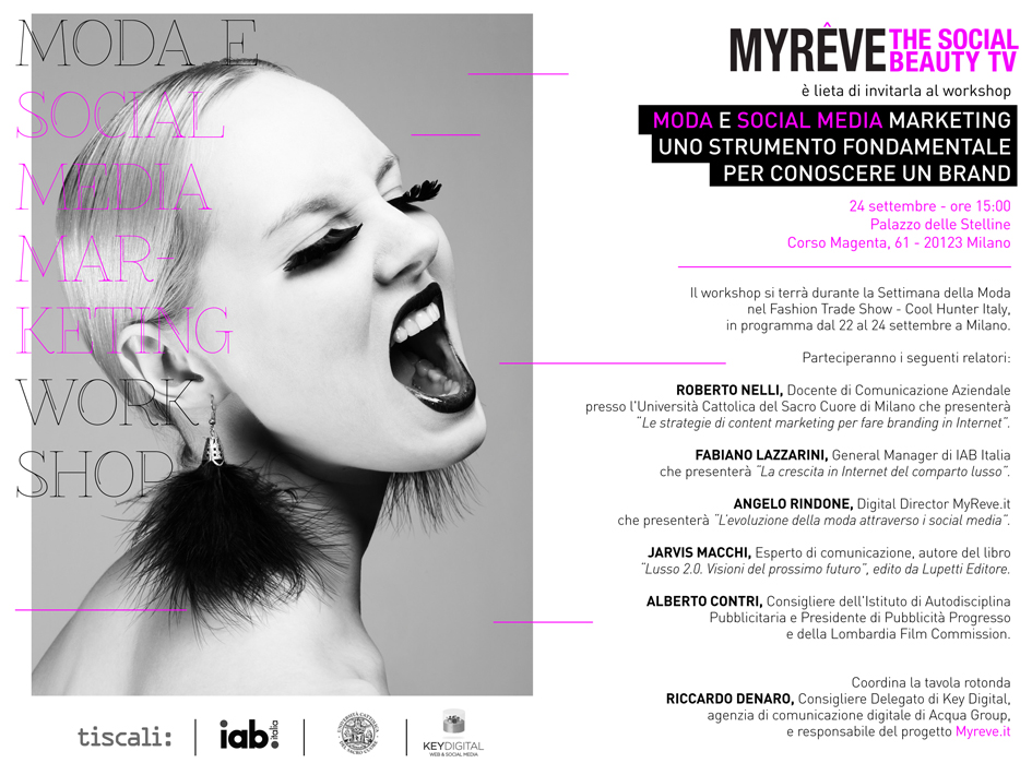 Key Digital media partner del fashion e social media marketing workshop di MyRêve.it