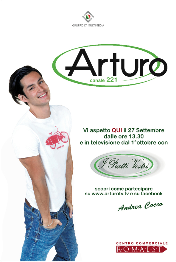 """A Romaest il set televisivo de """"I piatti vostri"""", con Andrea Cocco, il vincitore del Grande Fratello"""