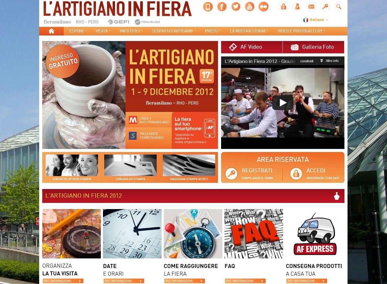 Key Digital lancia il nuovo sito Internet de L'Artigiano in Fiera