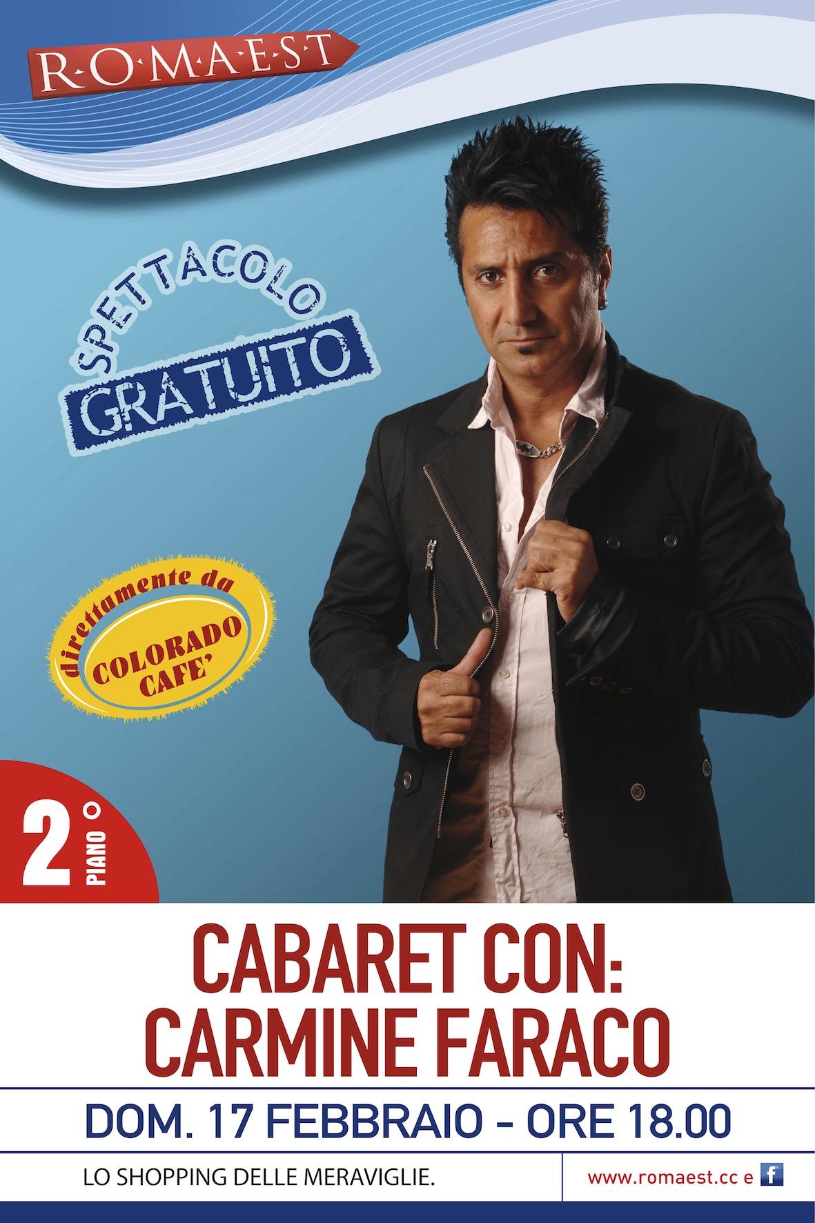 A Romaest torna il cabaret con Carmine Faraco