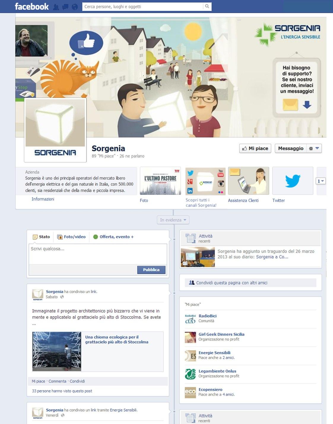 Sorgenia, al via il servizio clienti su Facebook e Twitter