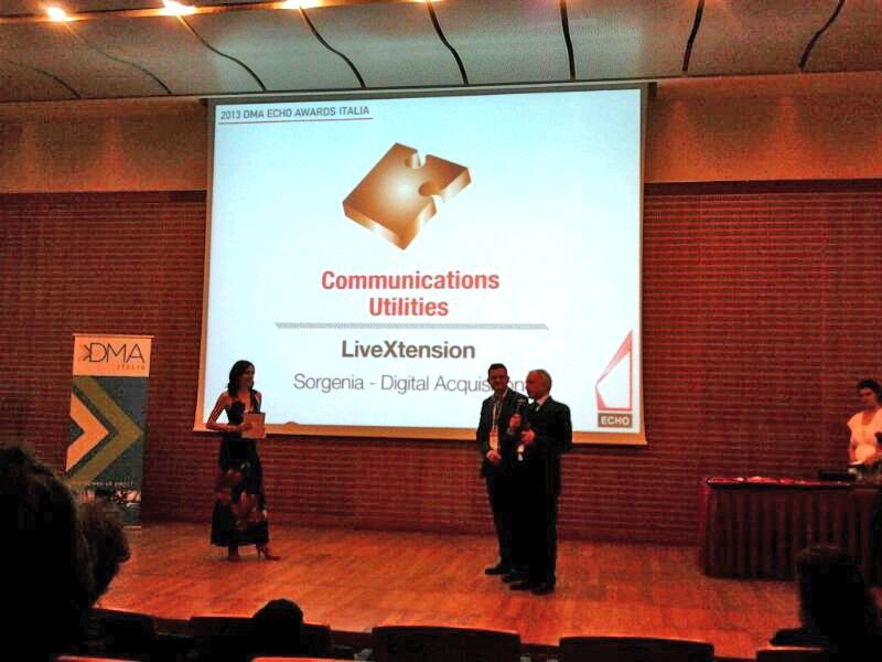 Sorgenia premiata ai Dma Echo Awards Italia