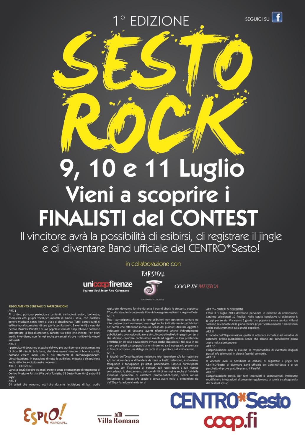 CENTRO*Sesto a tutto rock con il concorso per giovani talenti