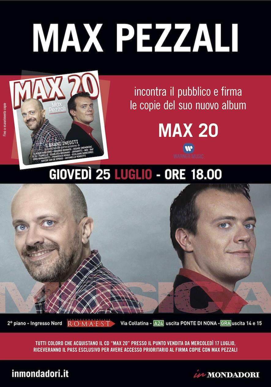 A Romaest arriva Max Pezzali