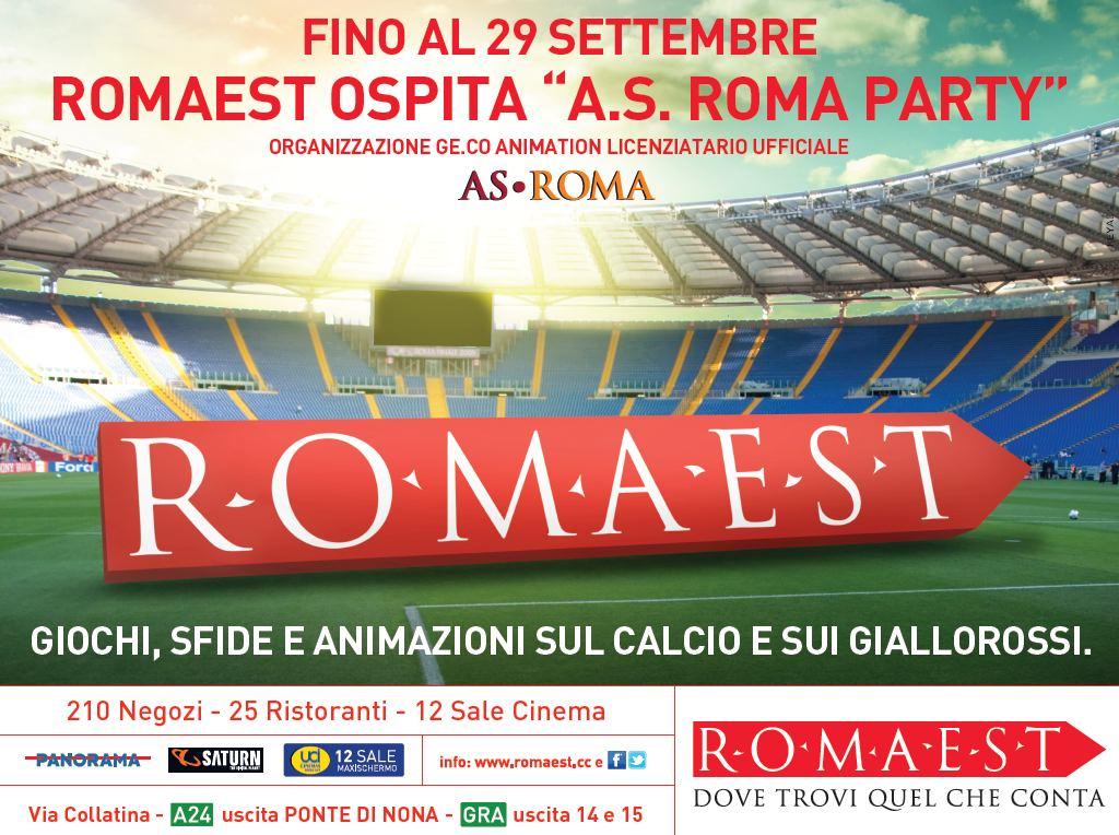 A Romaest grande festa con 'A.S. Roma Party'