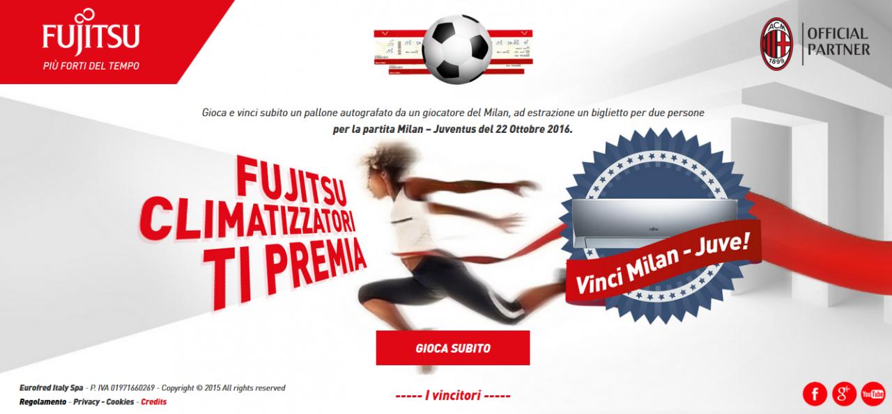 """Calcio d'inizio per il concorso online """"Fujitsu Clima ti premia"""""""