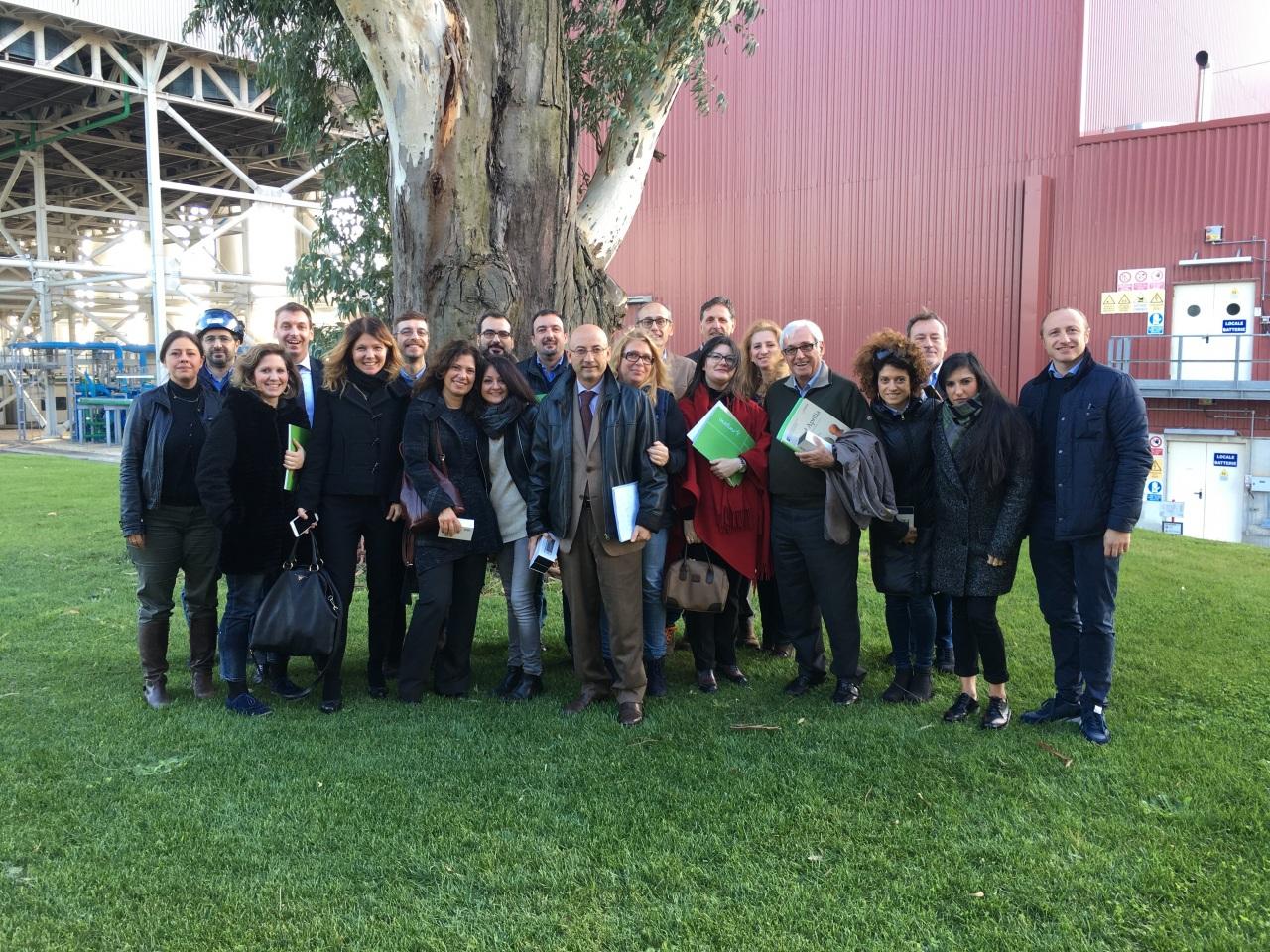 Associazioni dei consumatori in visita alla centrale di Sorgenia ad Aprilia