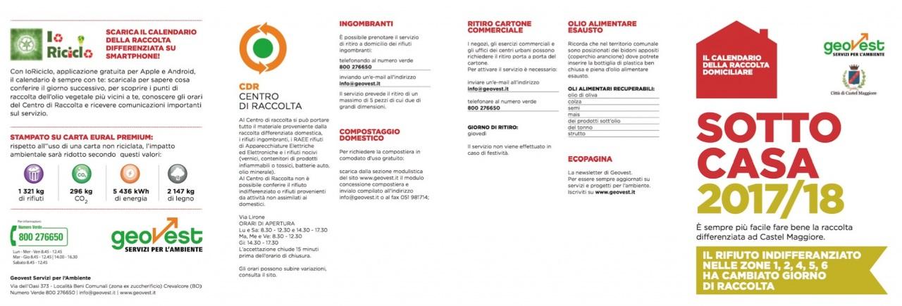 A Modena e Bologna la raccolta differenziata è ancora più green e facile con i calendari Geovest stampati su carta riciclata Eural