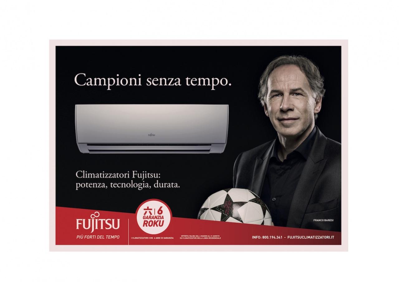 Campioni senza tempo: on air dal 29 maggio la nuova campagna Fujitsu Climatizzatori con Franco Baresi
