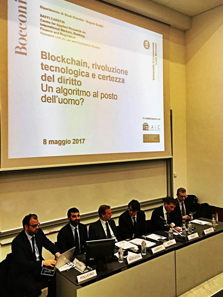"""Blockchain, tutti i rischi delle transazioni online: Bocconi e Federnotai presentano il manifesto """"Smart contract and blockchain"""""""