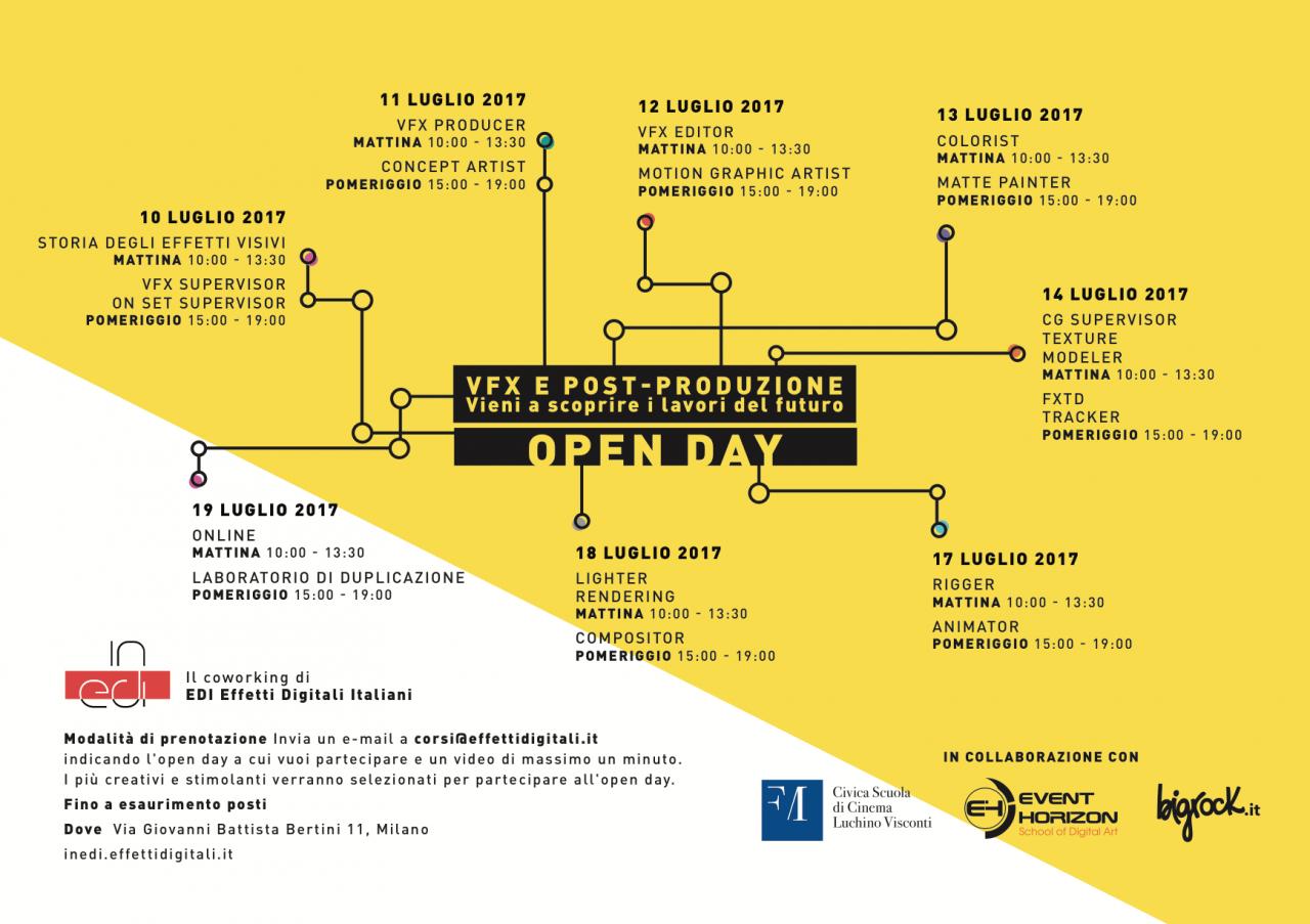 Open Day in EDI Effetti Digitali Italiani per chi sogna di lavorare nel cinema del futuro