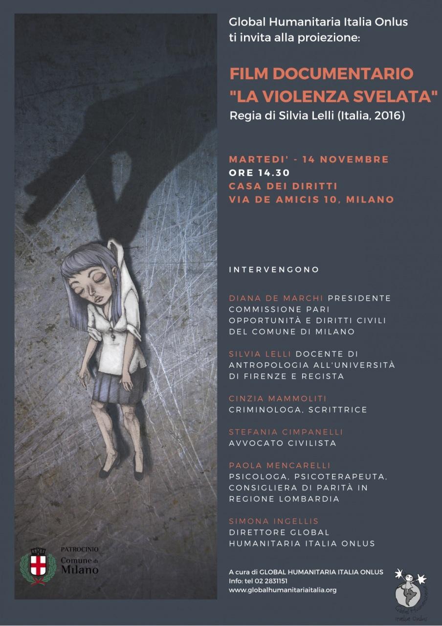 Giornata contro la violenza sulle donne: a Milano un film documentario e un dibattito organizzato da Global Humanitaria Italia Onlus