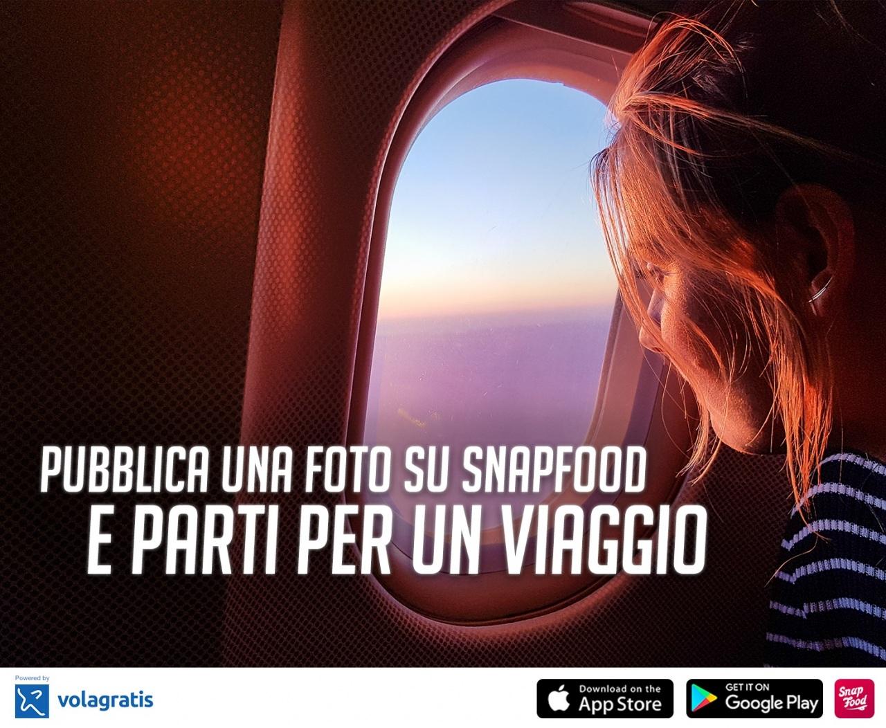Prendi il volo per le città europee con Snapofood e Volagratis