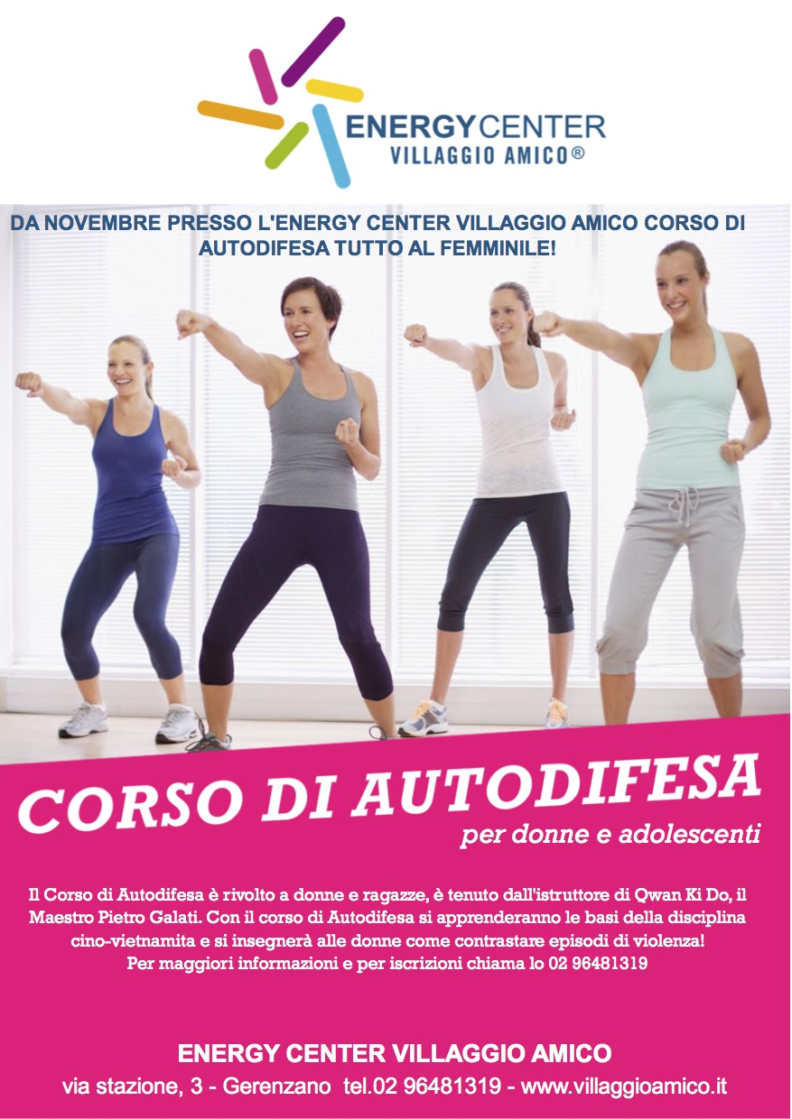Al via i corsi di autodifesa all'Energy Center Villaggio Amico