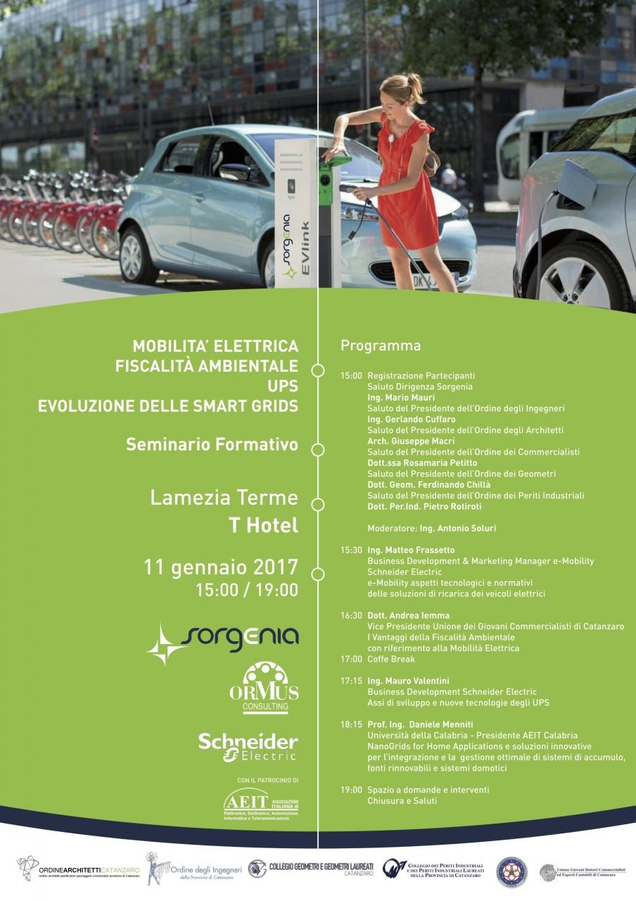 Mobilità elettrica: tecnologie, soluzioni e normativa in un seminario a Lamezia Terme