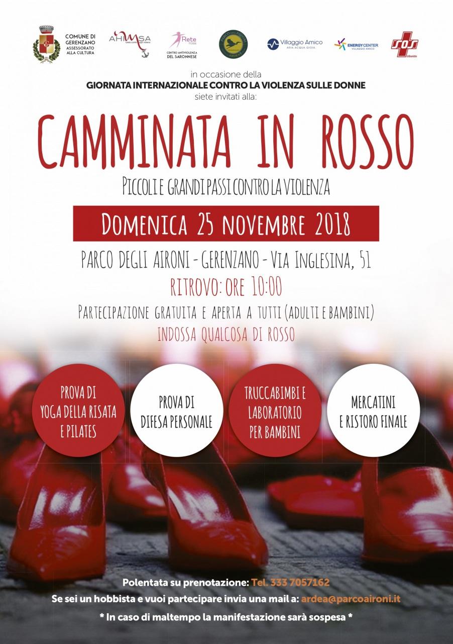 """Villaggio Amico, il 25 novembre una """"Camminata in rosso"""" per dire no alla violenza sulle donne"""