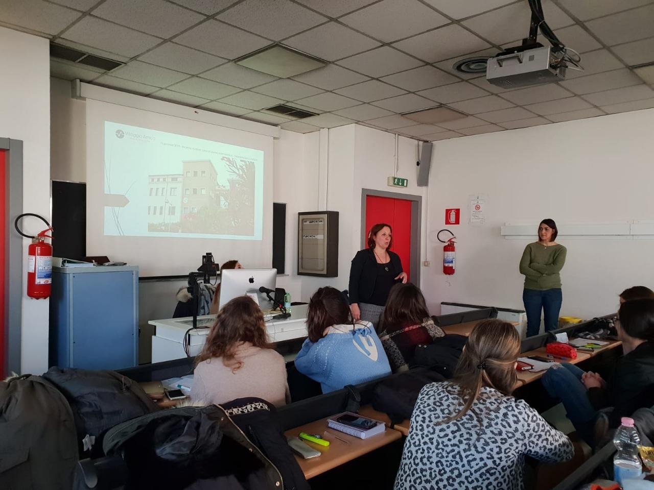 Gli infermieri di Villaggio Amico in cattedra all'Università degli Studi di Milano