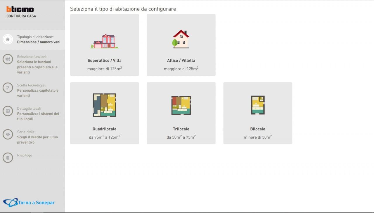 Sonepar Italia e BTicino presentano il configuratore casa per la progettazione di impianti elettrici
