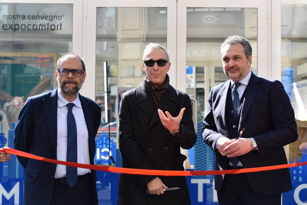 Ass. Granelli, Linus e Massimiliano Pierini