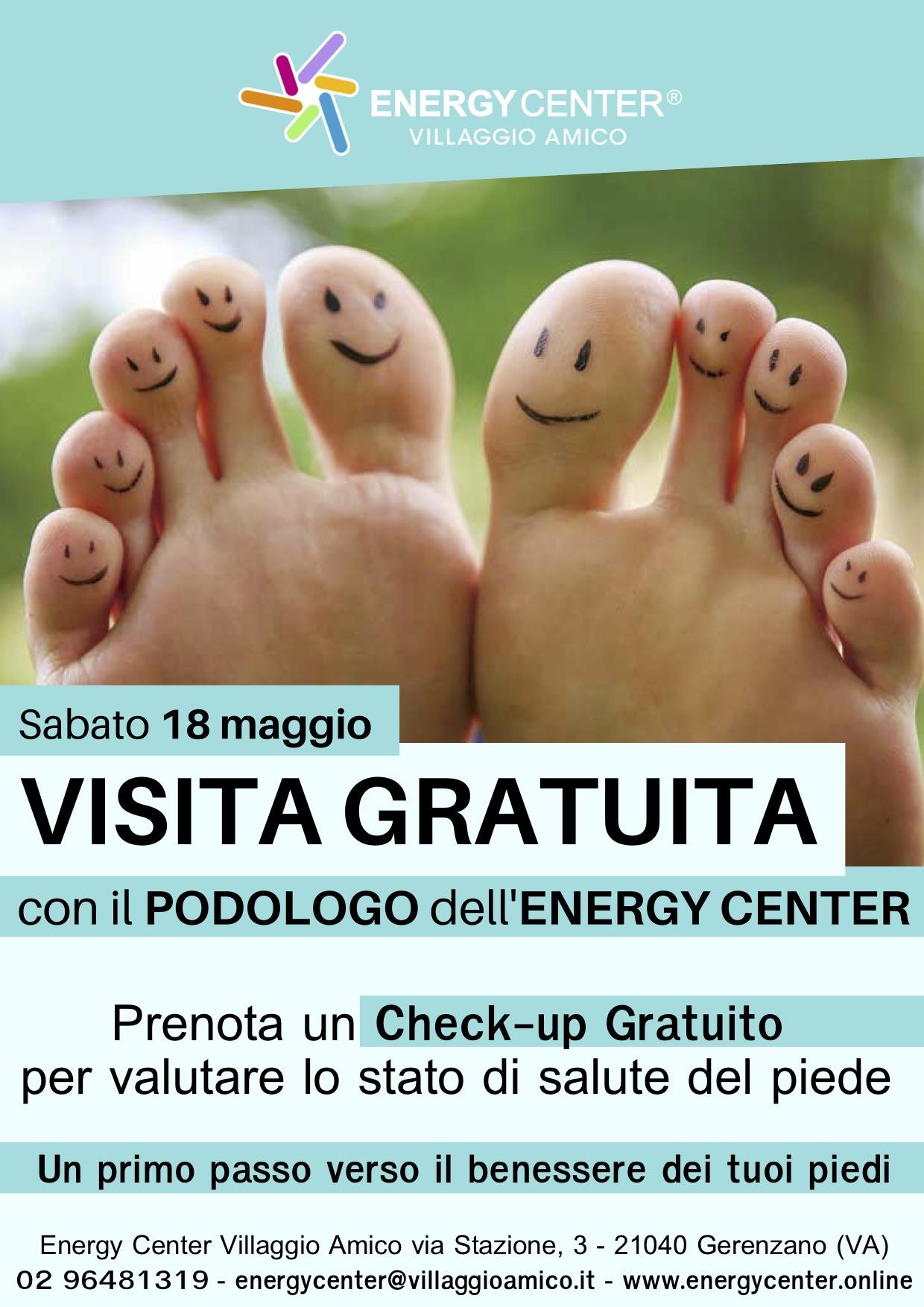 Rimettersi in forma partendo dai piedi:  il 18 maggio a Villaggio Amico visite gratuite con la nuova podologa dell'Energy Center