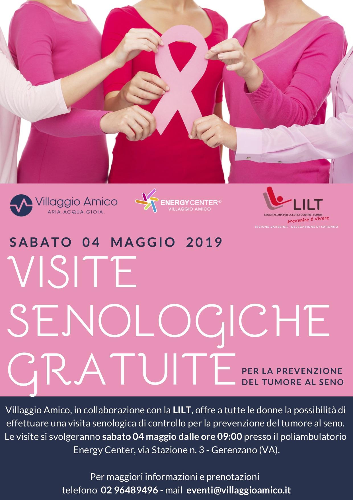 Villaggio Amico e LILT insieme il 4 maggio per la prevenzione del tumore al seno