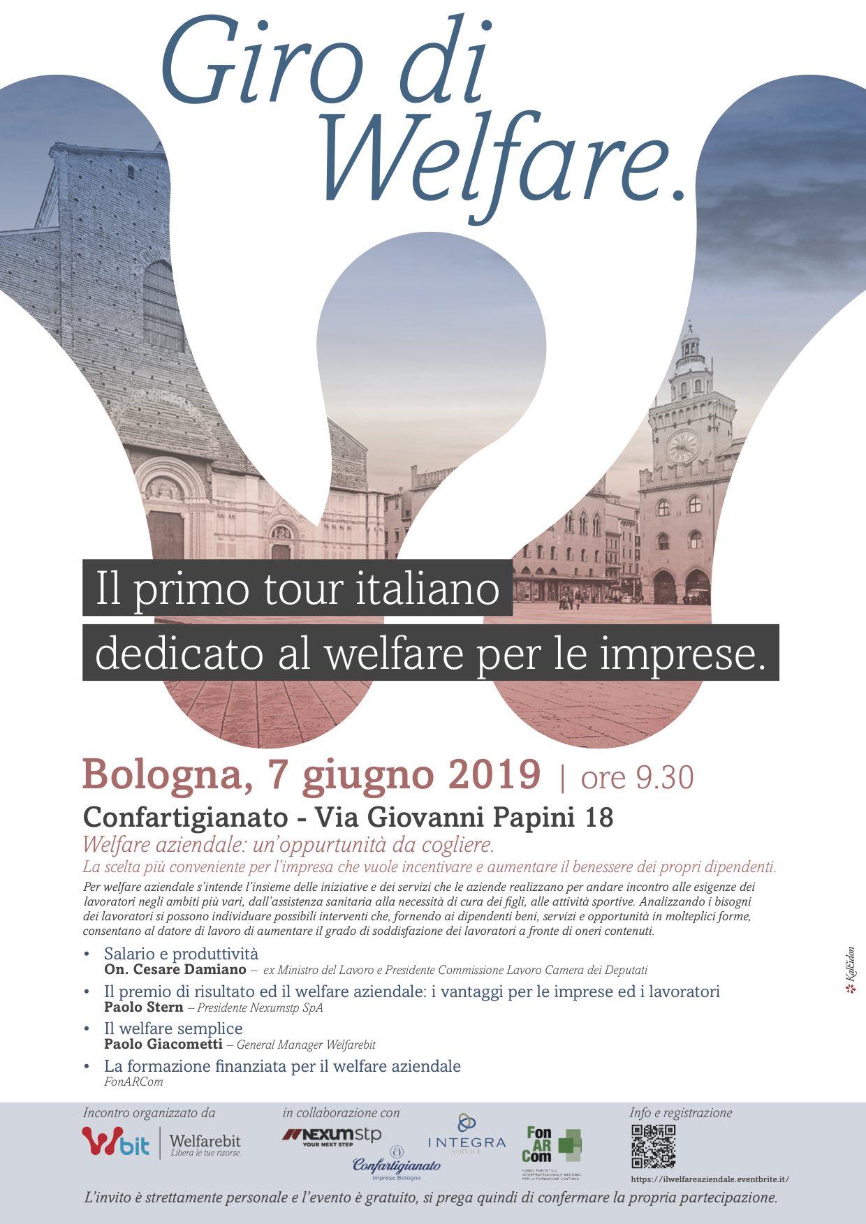 """Al via da Bologna il """"Giro di welfare"""" per le imprese"""