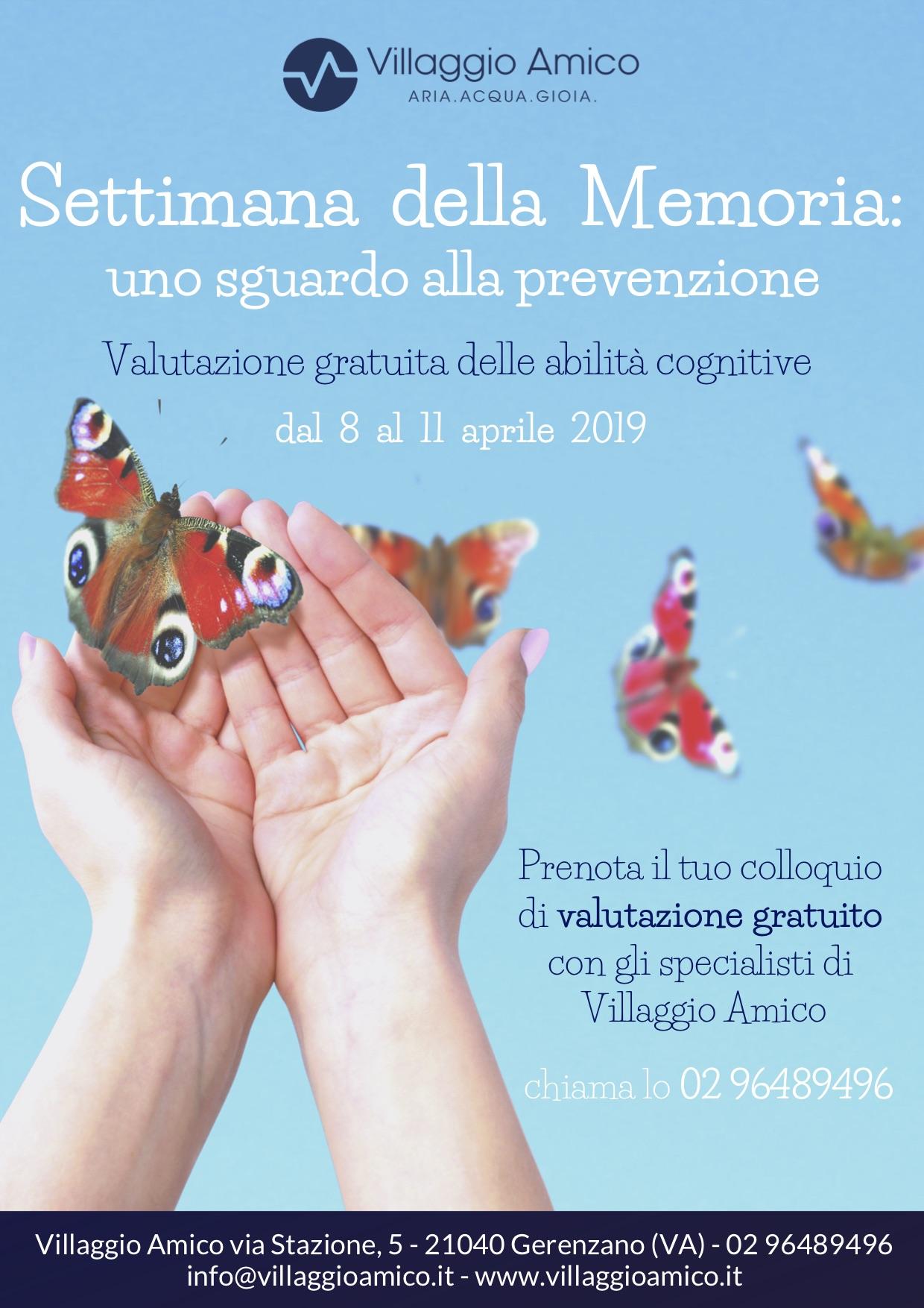 Settimana della memoria: a Villaggio Amico una valutazione cognitiva gratuita con la psicologa Michela Strozzi per la prevenzione dei disturbi della memoria