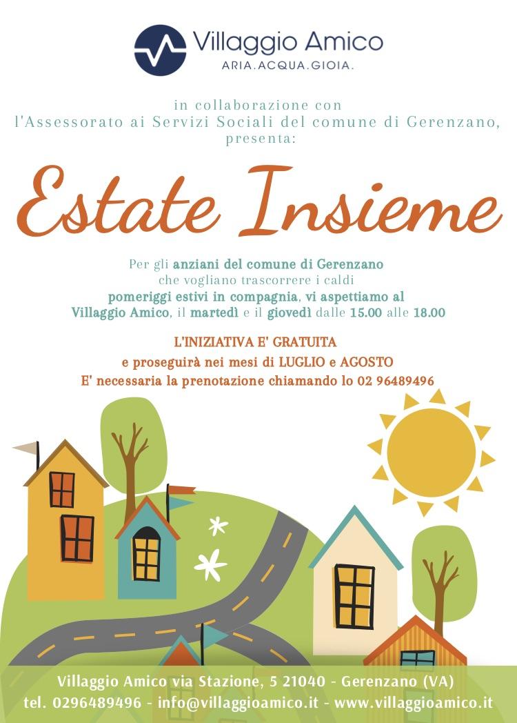 Anziani e estate: a Villaggio Amico parte il progetto Estate Insieme per combattere il caldo e la solitudine