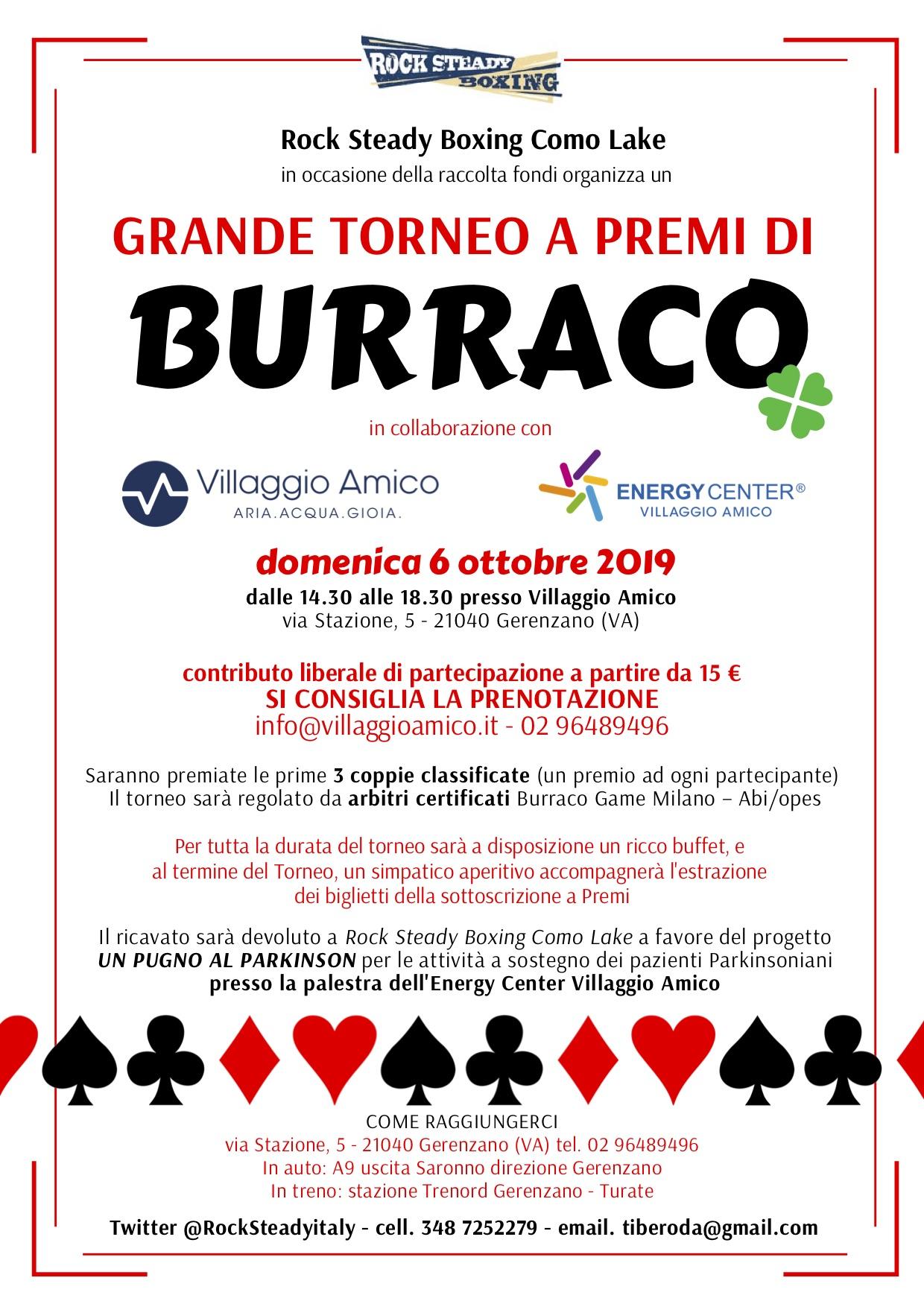 A Villaggio Amico un torneo di Burraco per sostenere il progetto 'Un pugno al Parkinson'