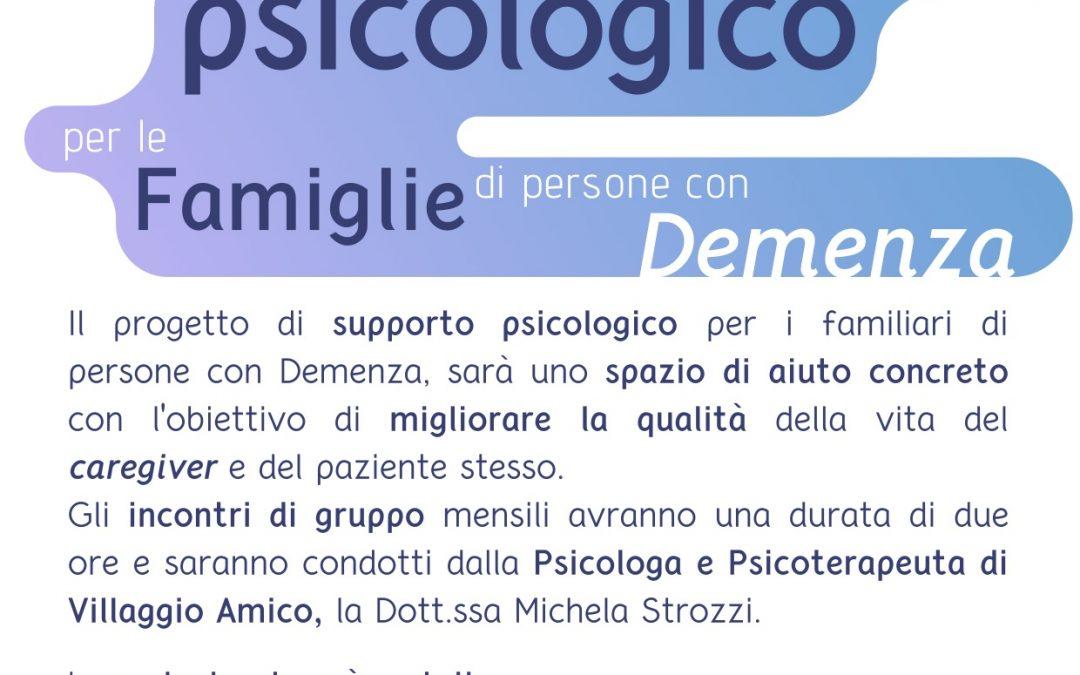 Caregiver: a Villaggio Amico un progetto per supportare i famigliari di persone con demenza