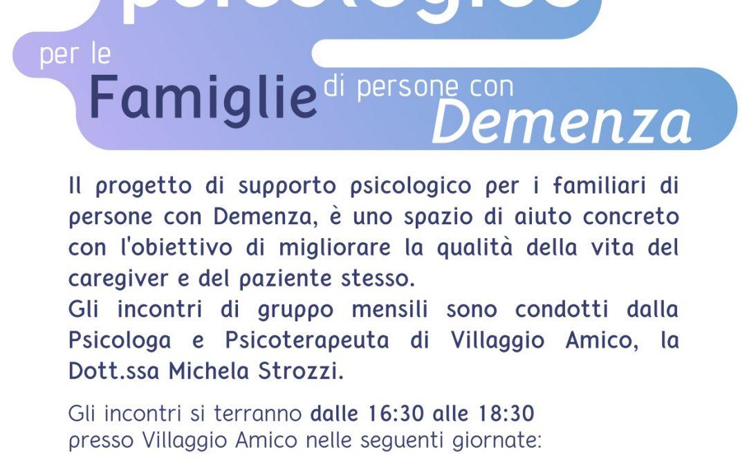 Caregiver e supporto psicologico: continuano gli appuntamenti a Villaggio Amico