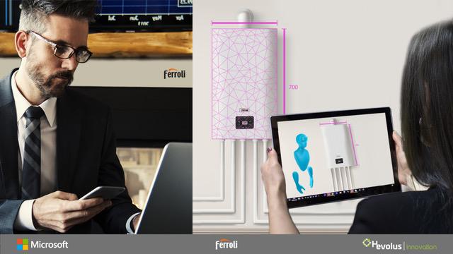 Ferroli fa squadra con Microsoft ed Hevolus: Cloud Computing e Mixed Reality al servizio di installatori e clienti, per guidare l'innovazione nel mondo della climatizzazione e del riscaldamento