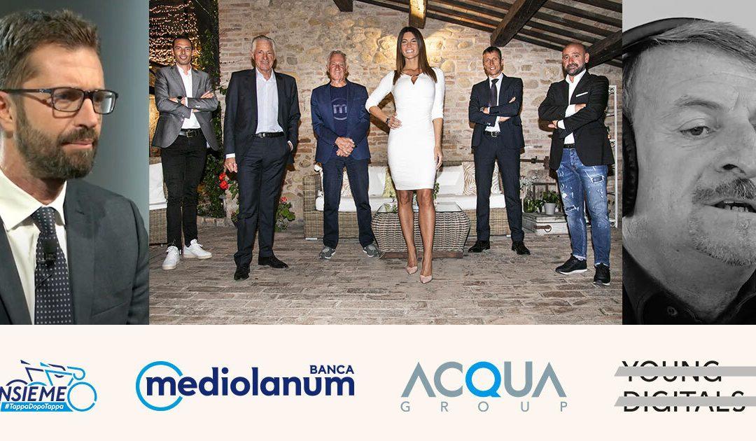 Acqua Group e Young Digitals fanno il Giro d'Italia con Banca Mediolanum