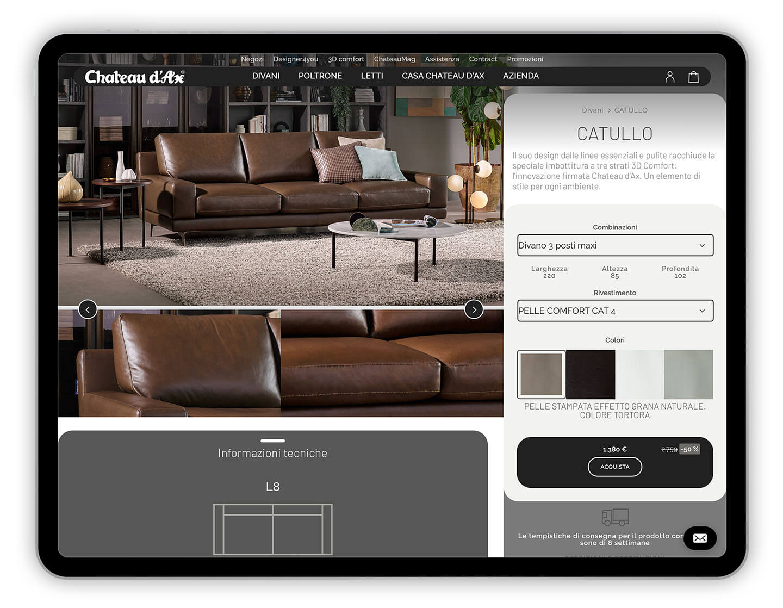 Mettetevi comodi, da oggi con Chateau d'Ax il divano lo si può scegliere e acquistare in internet