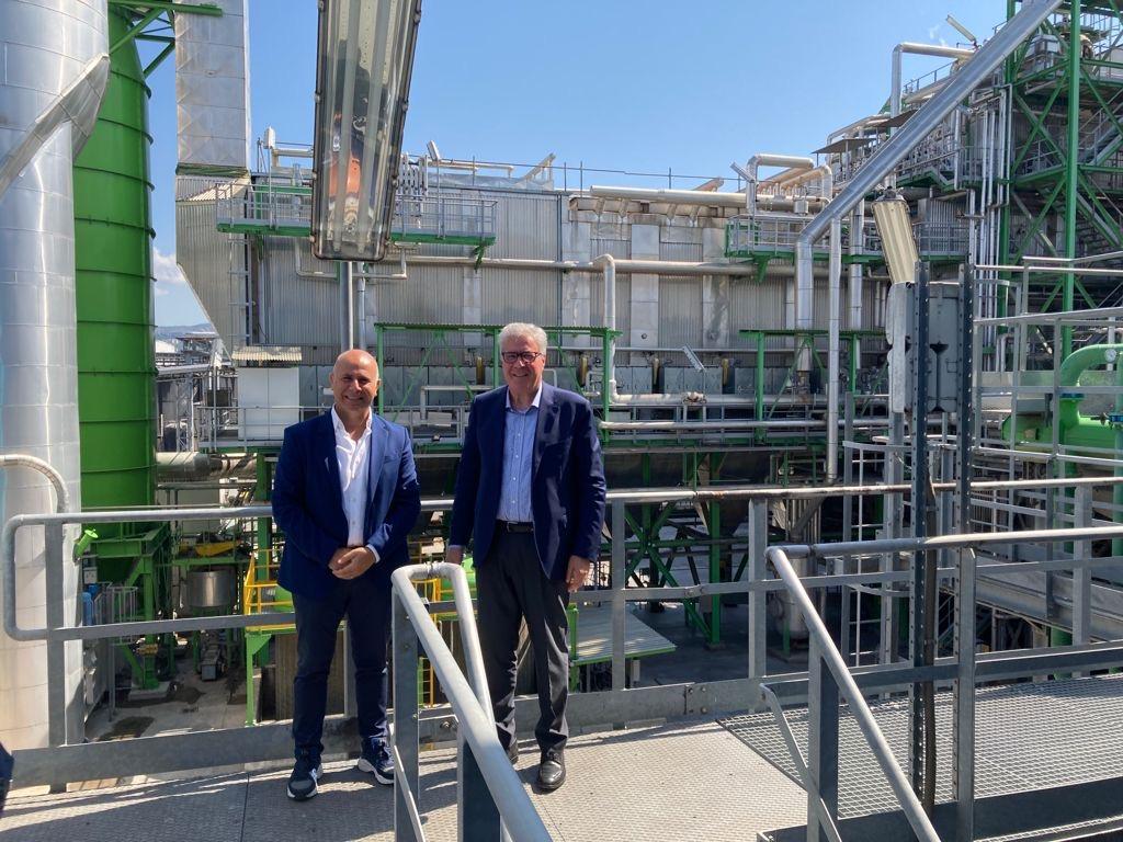 Associazione EBS: ad Anagni la visita dell'Europarlamentare Salvatore De Meo nell'impianto Bonollo Energia