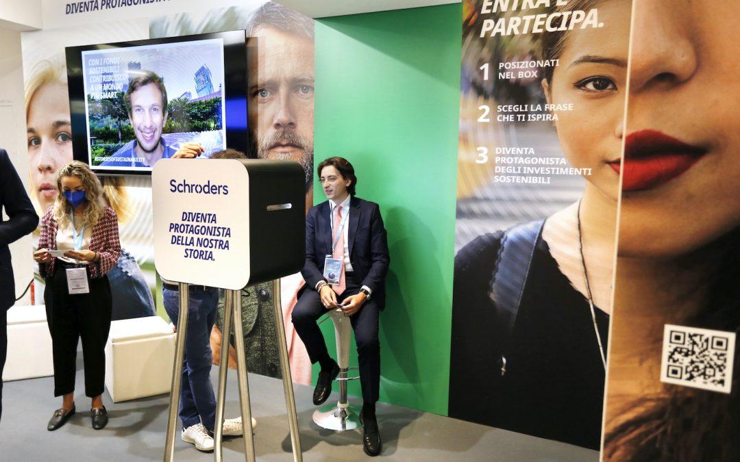 Schroders affida a IAKI la creatività dello spazio espositivo e dell'attivazione per i visitatori al Salone del Risparmio 2021